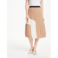 Buy Essentiel Antwerp Perridon Pleated Skirt, Tan Online at johnlewis.com