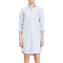 Buy Polo Ralph Lauren Stripe Oxford Shirt Dress, Harbour Island Blue/White Online at johnlewis.com