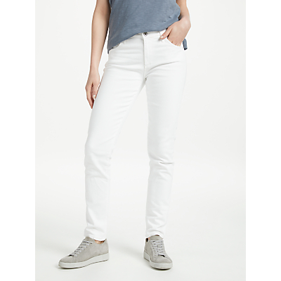 AG The Prima Mid Rise Slim Jeans, White