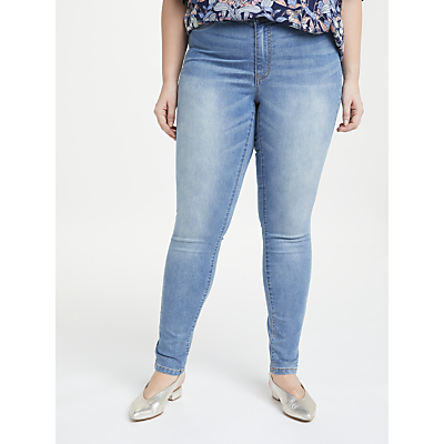 JUNAROSE Queen Slim Jeans, Light Blue Denim