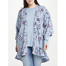 Buy JUNAROSE Maya Floral Print Kimono, Pale Blue Online at johnlewis.com
