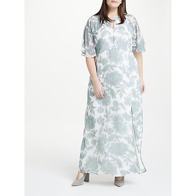 JUNAROSE Amia Risia Maxi Dress, Pale Blue/White
