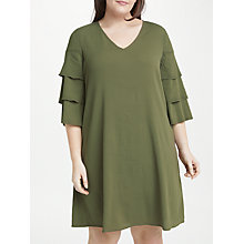 Buy JUNAROSE Robina Dress, Khaki Online at johnlewis.com