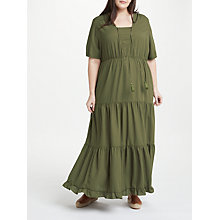 Buy JUNAROSE Felicity Maxi Dress, Khaki Online at johnlewis.com