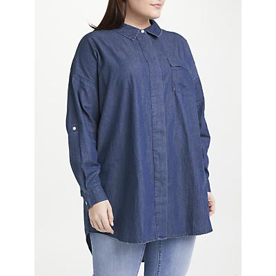 JUNAROSE Allegra Loose Fit Denim Shirt, Medium Blue