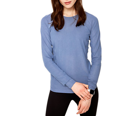 Lolë Mireille Long Sleeve Yoga T-Shirt, Light Denim Heather