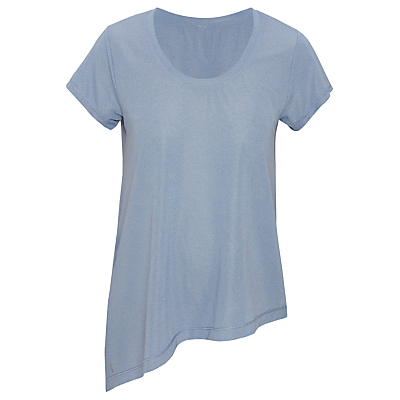Lolë Jovi Short Sleeve Yoga Top, Light Denim Heather