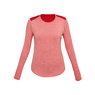 Lolë Agnessa Long Sleeve Yoga T-Shirt, Cherries Jubilee Heather