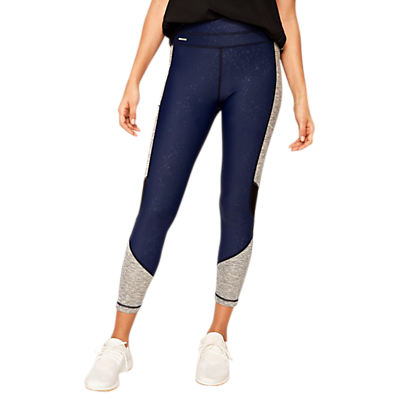 Lolë Burst Yoga Ankle Leggings, Mirtillo Blue Ankara