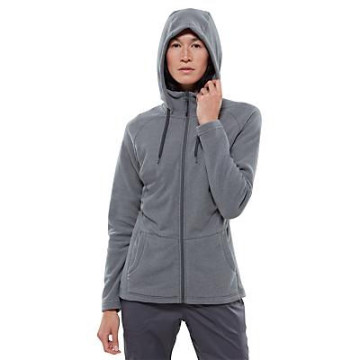 The North Face Tech Mezzaluna Full Zip Fleece Hoodie, Grey