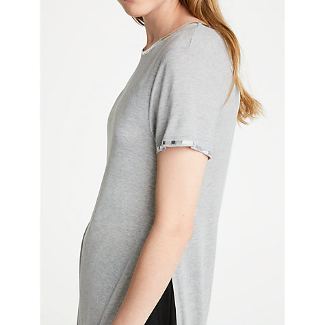 Buy Great Plains Foil Finish Jersey Top, Grey Shimmer Online at johnlewis.com