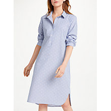 Buy Great Plains Hannah Floral Shirt Dress, Blue Pinstripe Online at johnlewis.com