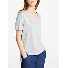 Buy Great Plains Let It Shine T-Shirt, Grey Shimmer Online at johnlewis.com