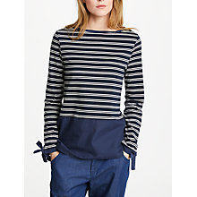 Buy Great Plains Take A Break Jersey Top, Classic Navy/Optic White Online at johnlewis.com