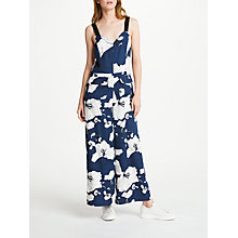 Buy Great Plains Tropical Fauna Jumpsuit, Classic Navy Combo Online at johnlewis.com