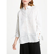 Buy Great Plains Eliza Embroidered Shirt, Optic White Online at johnlewis.com