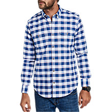 Buy Barbour International Batch Long Sleeve Gingham Shirt, Pearl Online at johnlewis.com
