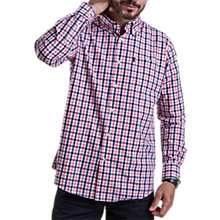 Buy Barbour Bruce Long Sleeve Check Shirt, Pink Online at johnlewis.com