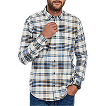 Buy Barbour International Rebel Long Sleeve Check Shirt, Pearl Online at johnlewis.com