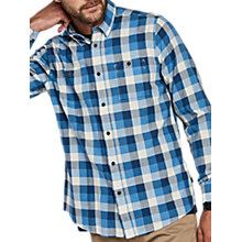 Buy Barbour International Collier Long Sleeve Herringbone Shirt, Blue Online at johnlewis.com