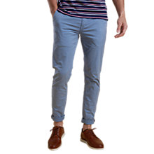 Buy Barbour Neuston Stretch Twill Slim Fit Chinos, Blue Online at johnlewis.com