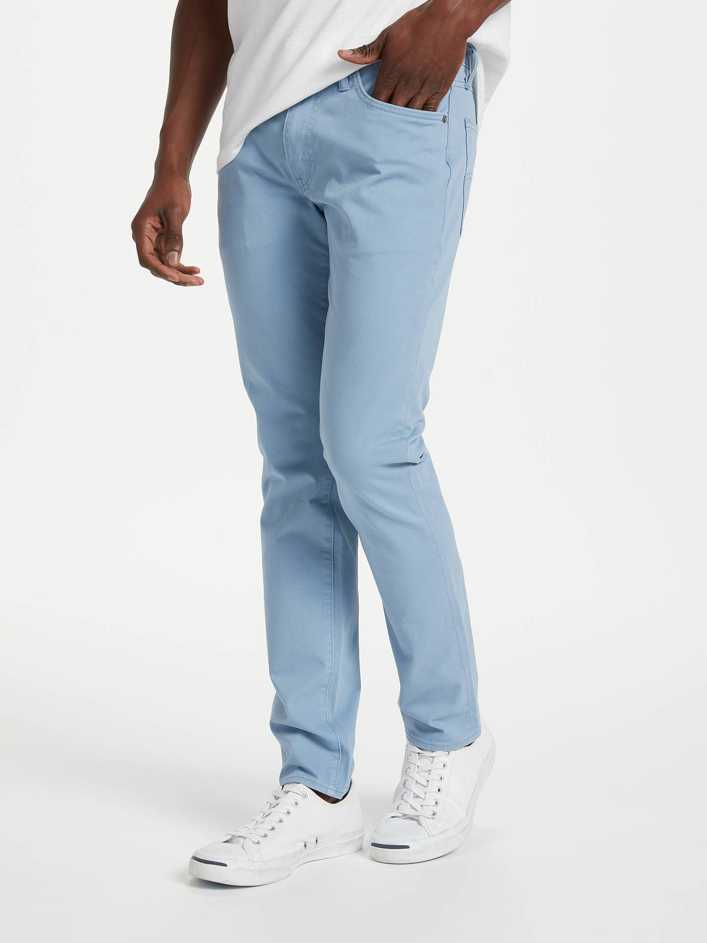 535b508f Levi's 511 Slim Fit Chinos, Moss Blue at John Lewis & Partners