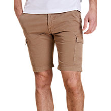 Buy Barbour Cotton Cargo Shorts, Stone Online at johnlewis.com