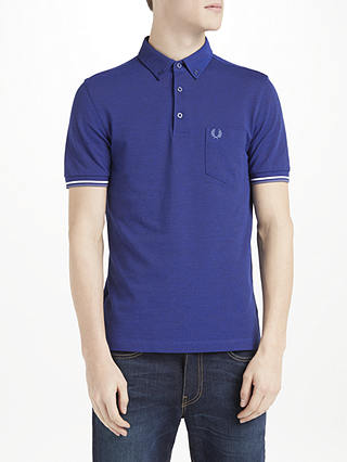 Fred Perry Oxford Pique Short Sleeve Polo Shirt at John