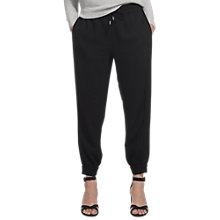 Buy Whistles Minimal Crepe Cuff Joggers, Black Online at johnlewis.com