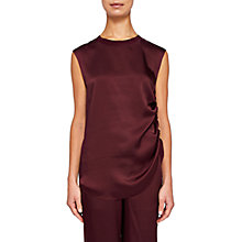Buy Ted Baker Samiey Ruched Side Satin Top Online at johnlewis.com