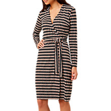 Buy Hobbs Delilah Wrap Dress, Black/Multi Online at johnlewis.com
