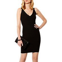 Buy Karen Millen Bandage Knit Bodycon Dress, Black Online at johnlewis.com