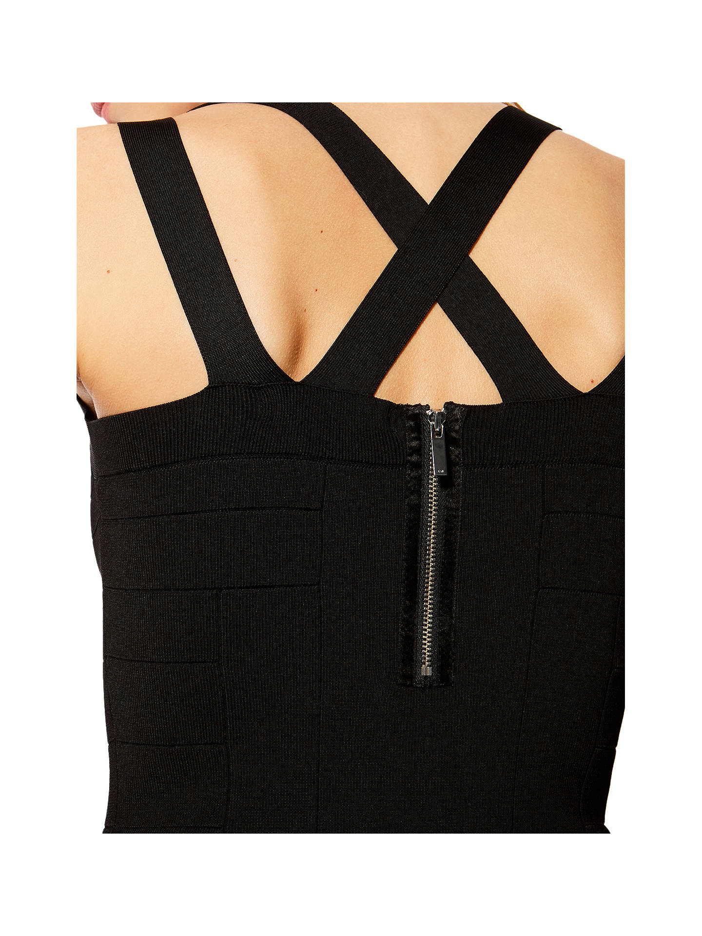 BuyKaren Millen Bandage Knit Bodycon Dress, Black, XS Online at johnlewis.com