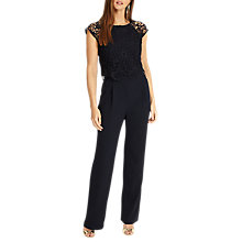 Buy Phase Eight Cortine Jumpsuit, Navy Online at johnlewis.com