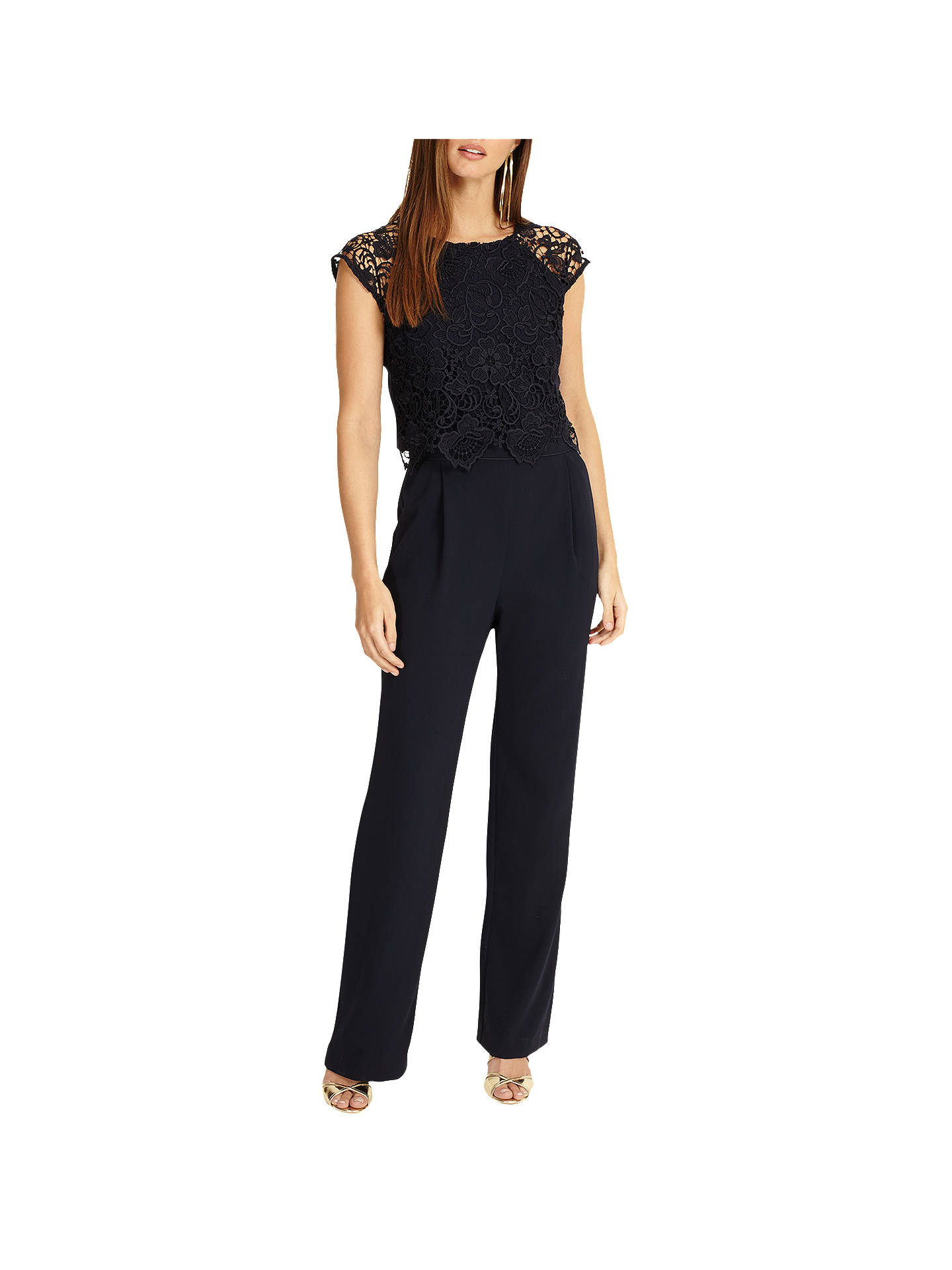 Buy Phase Eight Cortine Jumpsuit, Navy, 6 Online at johnlewis.com