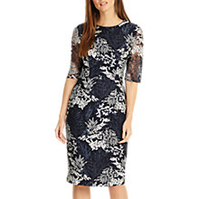 Buy Phase Eight Fern Embroidered Dress, Navy/White Online at johnlewis.com