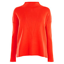 Buy Karen Millen Layered Knit Jumper, Orange Online at johnlewis.com