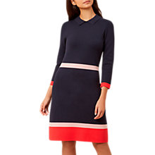 Buy Hobbs Thelma Dress, Navy/Multi Online at johnlewis.com