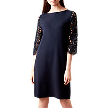 Buy Hobbs Emily Dress, Navy Online at johnlewis.com