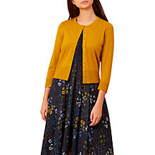 Buy Hobbs Evie Cardigan, Golden Yellow Online at johnlewis.com