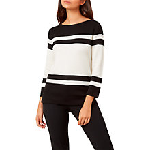 Buy Hobbs Etta Jumper, Ivory Black Online at johnlewis.com