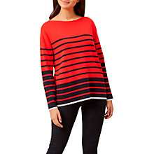 Buy Hobbs Rhian Striped Jumper, Red/Navy Online at johnlewis.com