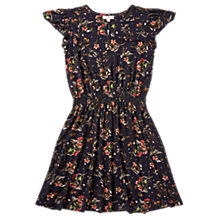 Buy Jigsaw Girls' Flower Floaty Dress, Navy Online at johnlewis.com