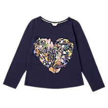 Buy Jigsaw Girls' Flower Print Top, Blue Online at johnlewis.com