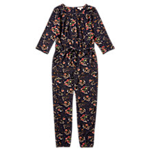 Buy Jigsaw Girls' Flower Print Jumpsuit, Navy Online at johnlewis.com