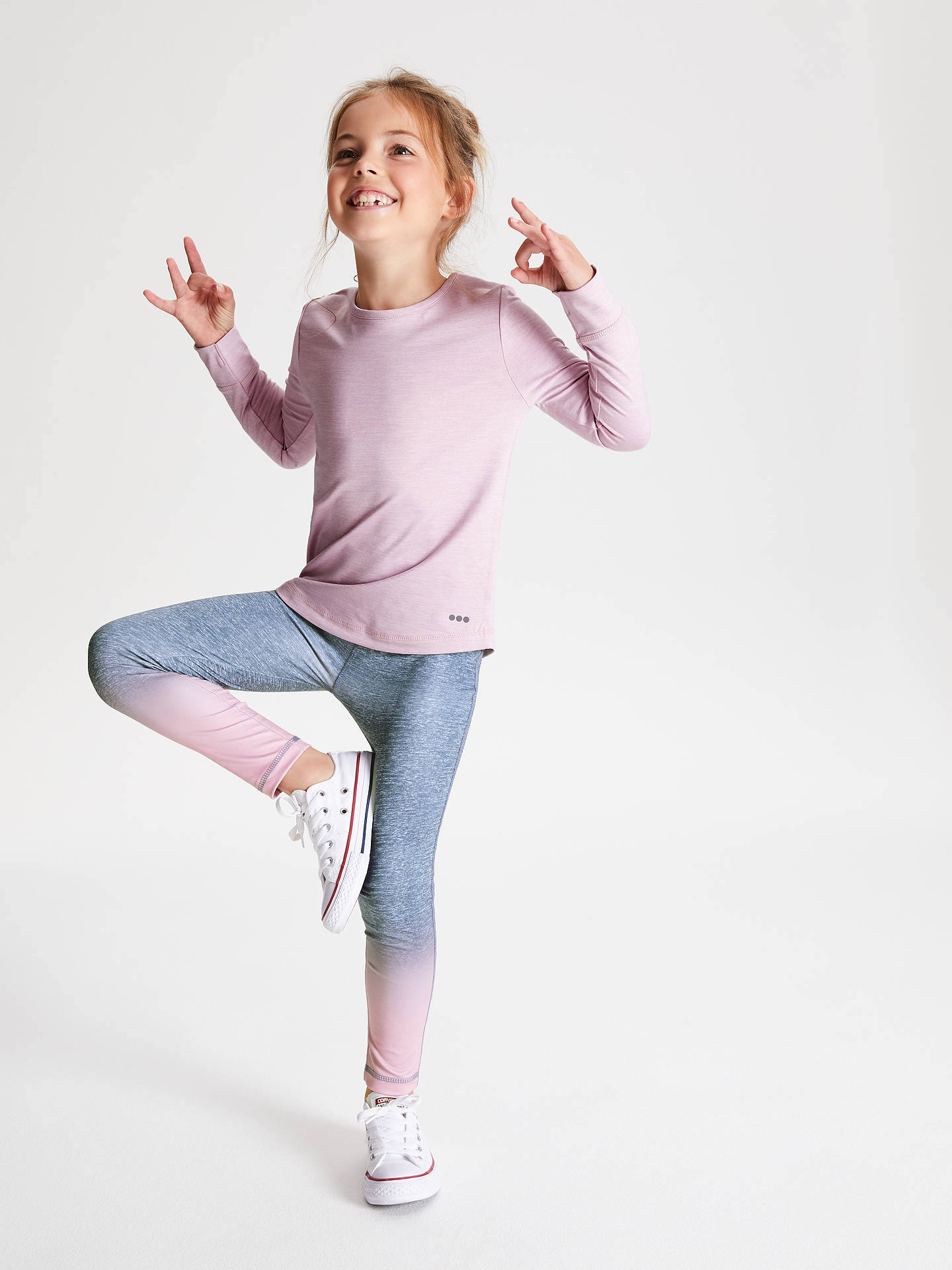 Buy John Lewis & Partners Girls' Ombre Sports Leggings, Lilac, 3 years Online at johnlewis.com