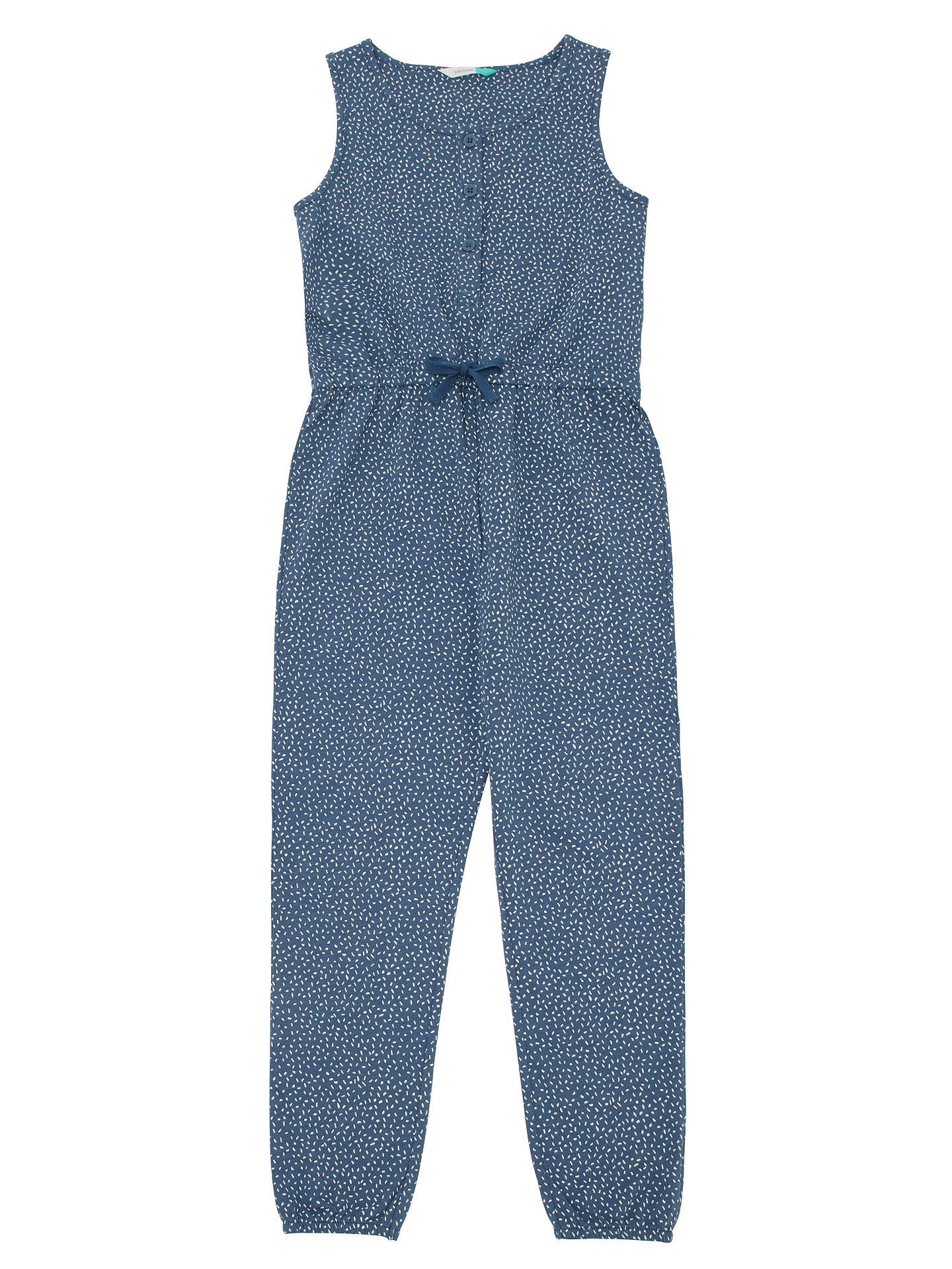 BuyJohn Lewis & Partners Girls' Jumpsuit, Blue, 2 years Online at johnlewis.com