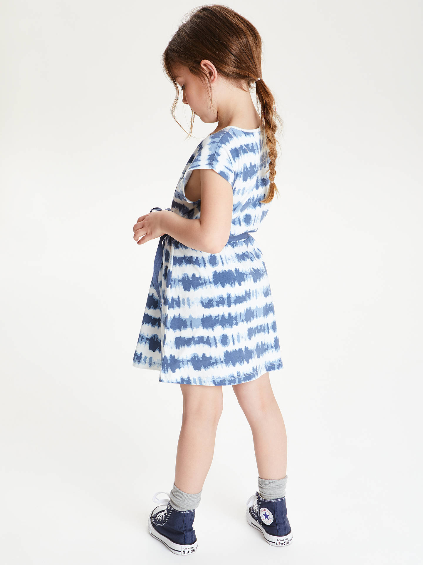 BuyJohn Lewis & Partners Girls' Tie Dye Dress, Blue, 2 years Online at johnlewis.com