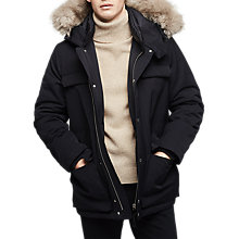 Buy Reiss Renegade Parka Jacket, Black Online at johnlewis.com