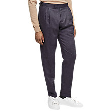 Buy Reiss Elmer Wool Twill Modern Fit Trousers, Navy Online at johnlewis.com